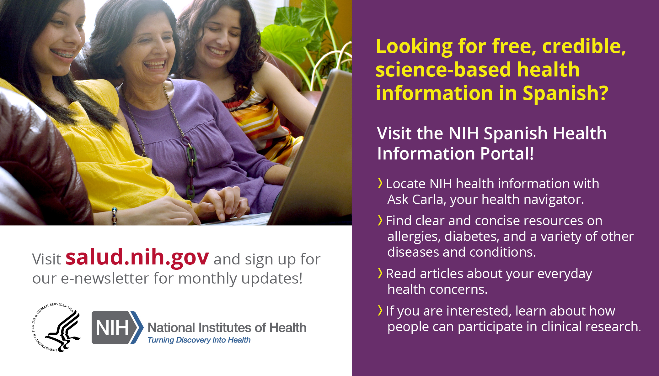 Looking for free, credible, science-based health information in Spanish?